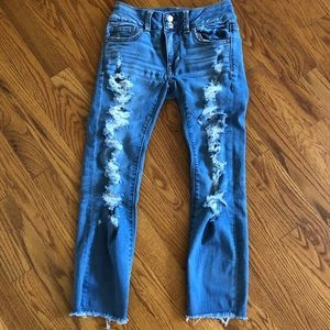 American Eagle stretch Artist Crop Jeans size 0